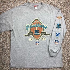 Carolina Panthers football long sleeve t-shirt XL